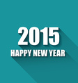 Modern simple happy new year card 2015 vector