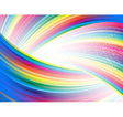 Abstract rainbow birthday banner vector