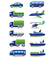 Vehicles icons set vector