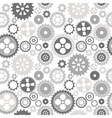Gear cog silhouette seamless pattern vector