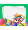 Clown banner vector
