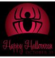 Spider rising moon halloween card in format vector