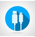 Flat icon for usb cable vector