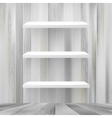 Layers blank white wooden bookshelf  eps10 vector
