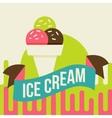 Ice cream background vector