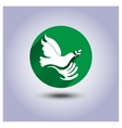 Eco icon sticker bird in hand vector