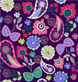 Romantic beauty pattern with flower and paisley vector