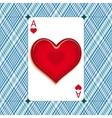 Heart on the ace vector