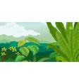 Lush plant life vector