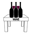 Wine on the table vector
