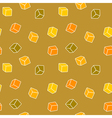 Simple cubes seamless pattern vector