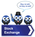 Stock exchange sign vector