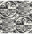 Ornate textured geometric seamless pattern vector