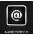 Email icon silver metal vector