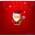 Santa girl claus for christmas card vector