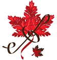 Red leaf vector