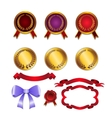 Set for design ribbons medals vector