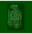 Microchip background electronics circuit eps10 vector