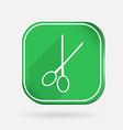 Scissors barbershop color square icon vector
