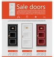 Flat minimalist template business design doors vector