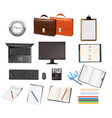 Super mega set business supplies vector