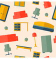 Seamless pattern of furniture vector