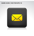 Message email sms icon gold vector