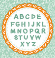 English alphabet letter on the floral background vector