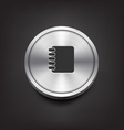 Metal address book icon vector