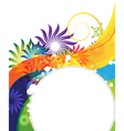 Funny rainbow flower background vector