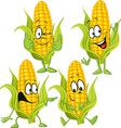Sweet corn cartoon with hands vector