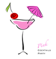 Pink cocktail party vector