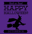 Witch typographic halloween card in format vector