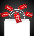 Black friday shoping bag vector
