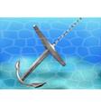 Anchor under water vector