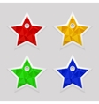 Geometric shape from triangles set of star labels vector