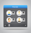 Friends set vector