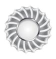 Metallic silver logo background vector