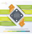 Green business concept design with arrows vector