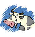Funny farm cow vector