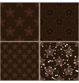 Set of brown star patterns vector