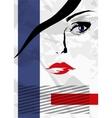 Abstract girls face vector