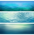 Abstract water banners vector