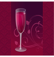 Design glass wine vector