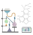 Chemical laboratory test tube formula vector