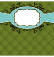 Checked green background with label vector