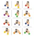 Smartphone touch gestures vector