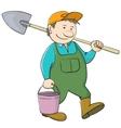 Bucket and shovel vector