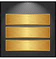 Golden banner vector