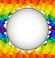 Triangular rainbow open background vector